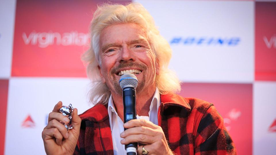 Sir Richard Branson speaks at a conference