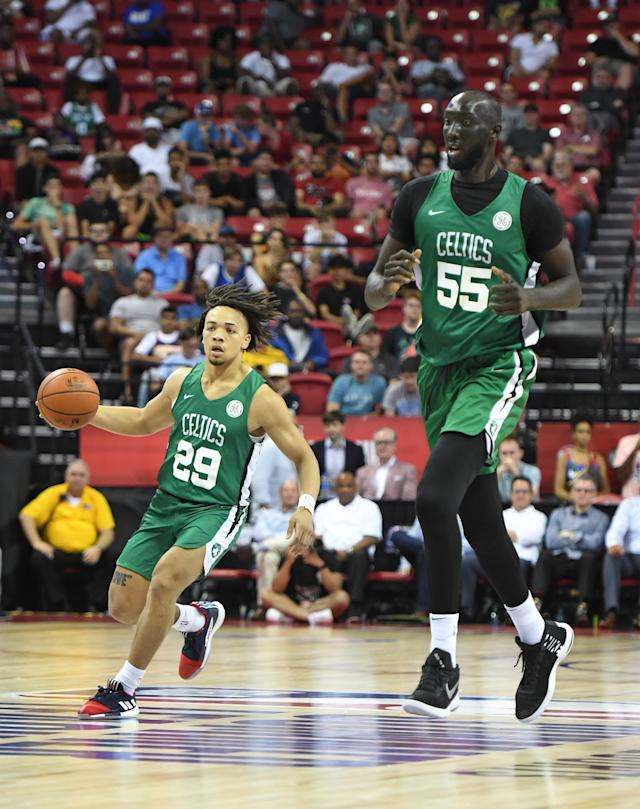 Celtics Tacko Fall Towers Over Teammate Carsen Edwards In Must See