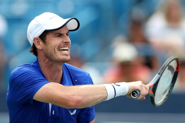 Andy Murray was making his singles return after a hip injury. (Credit: Getty Images)