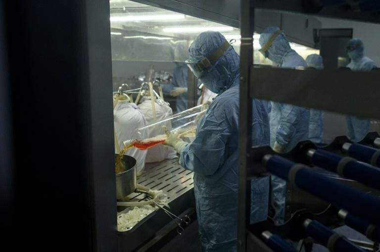 Yisheng Biopharma said it would be able to produce 500 million vaccine doses a year (AFP Photo/NOEL CELIS)