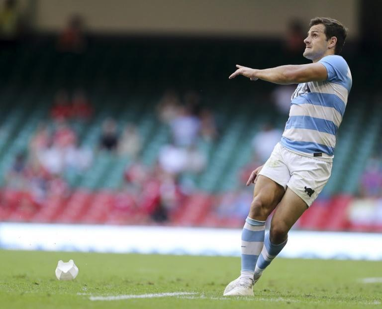 Argentina fly-half Nicolas Sanchez converts a penalty during an 18-point haul in the Pumas' 33-11 win over Wales in the second Test in Cardiff on Saturday