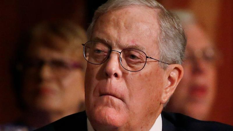 David Koch, executive vice president of Koch Industries, attends an Economic Club of New York event in New York.
