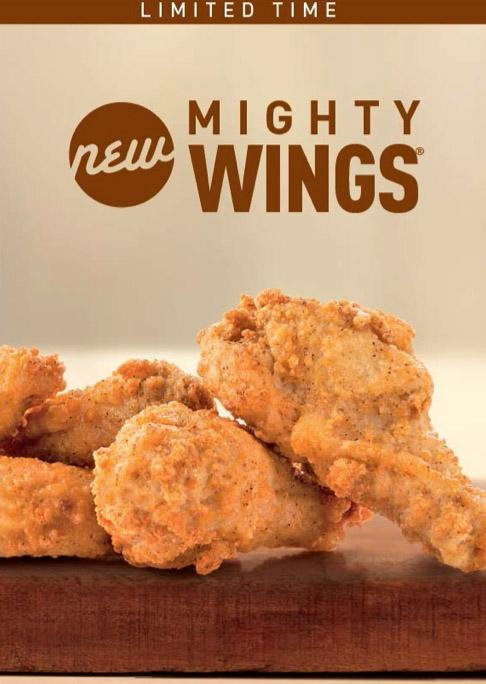 """For a limited time, McDonald's will offer chicken wings on the chain's menu. The world's biggest hamburger chain is set to launch """"Mighty Wings,"""" chicken wings seasoned with cayenne and chili-pepper, in select locations on Sept. 9. and nationwide by Sept. 22. The wings, available in three, five or 10-piece packs, will be offered through November and start at $2.99. (AP photo/McDonald's)"""
