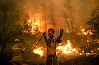 Greece's worst heatwave in decades fanned deadly wildfires that burned nearly 100,000 hectares (AFP/ANGELOS TZORTZINIS)