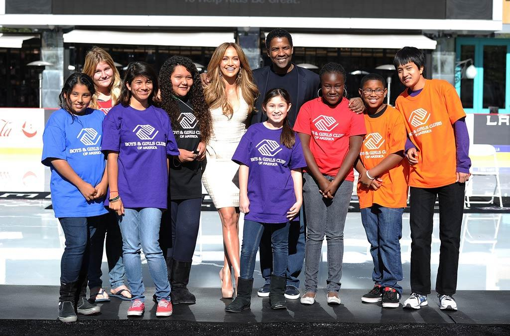 """Jennifer Lopez was announced as the first female spokesperson for The Boys & Girls Clubs of America Tuesday in L.A., commemorating the 20th anniversary of the organization's name change from Boys Clubs to Boys & Girls Clubs of America. Lopez has joined Denzel Washington as an advocate for young kids in need nationwide. Jason Merritt/<a href=""""http://www.gettyimages.com/"""" target=""""new"""">GettyImages.com</a> - November 30, 2010"""