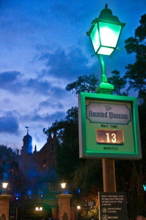 <p>There's also a secret code to the wait times for The Haunted Mansion and Tower of Terror—if you see that the line's wait time is the unlucky 13 minutes (~*spooky*~), it means there's basically no wait. </p>