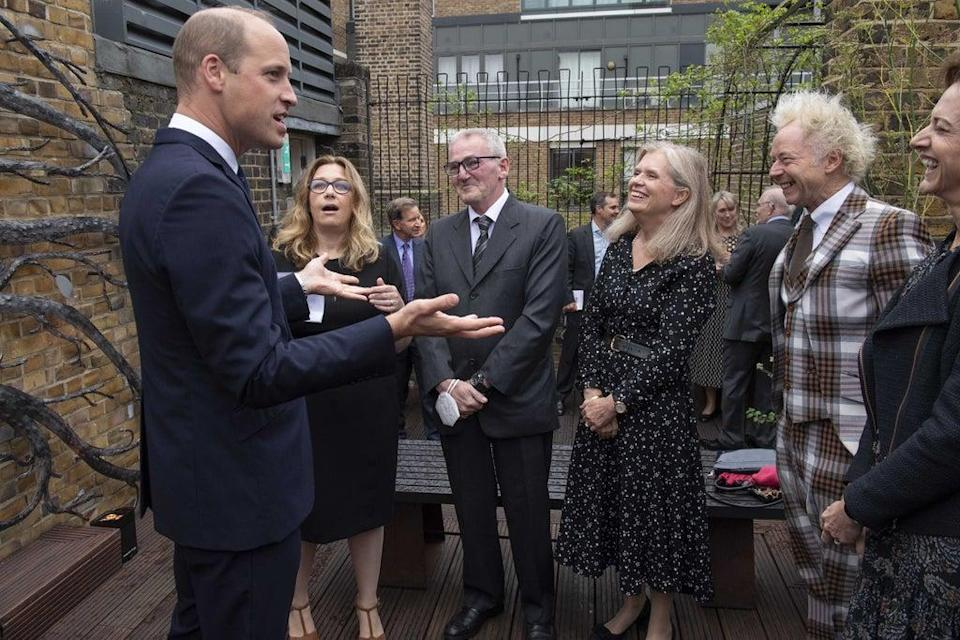 The Duke of Cambridge, Royal Patron of The Passage, during a visit to the charity's headquarters at the St Vincent's Centre, London (PA)