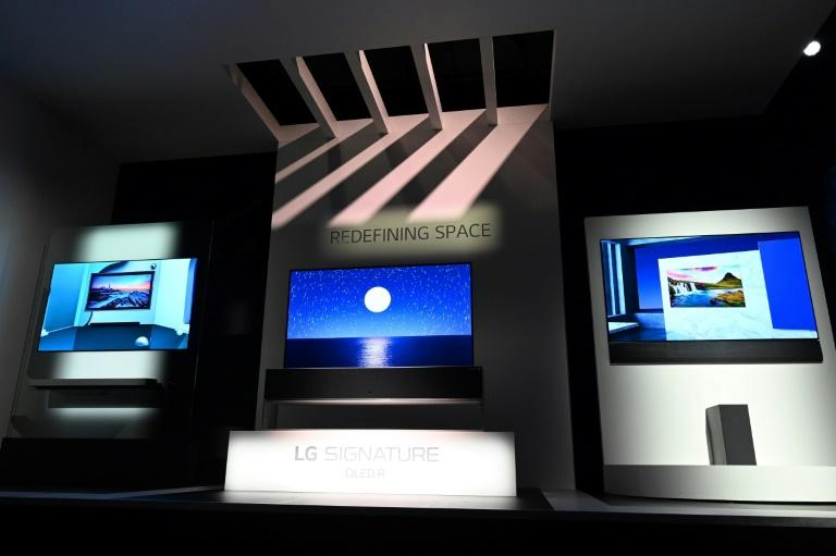 LG said its smart televisions were being enhanced to give viewers real-time answers about what is happening on screen (AFP Photo/Robyn Beck)