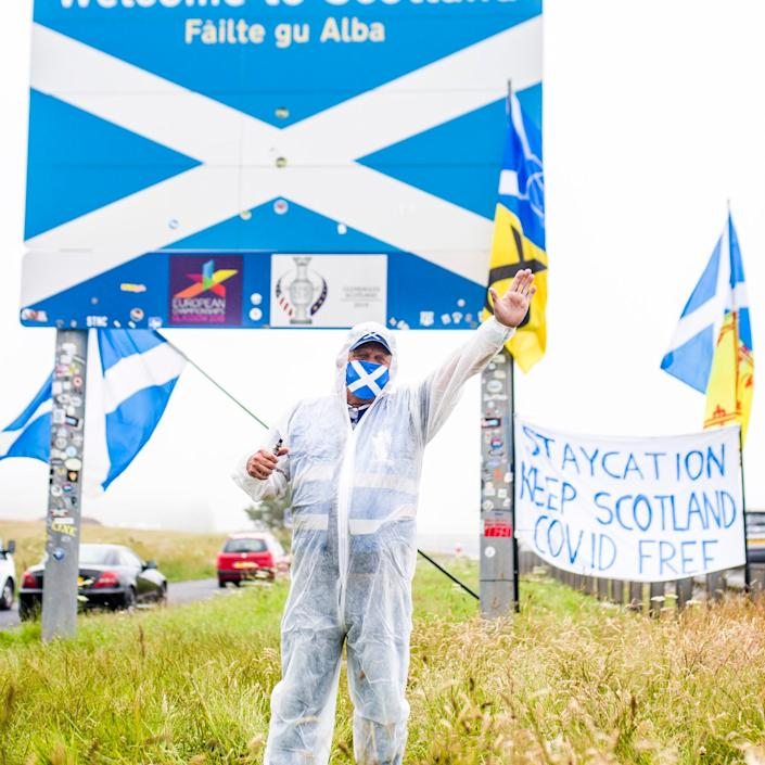 """A protest on Saturday has been condemned as """"abhorrent"""" by other pro-independence campaigners - Euan Cherry/Euan Cherry"""