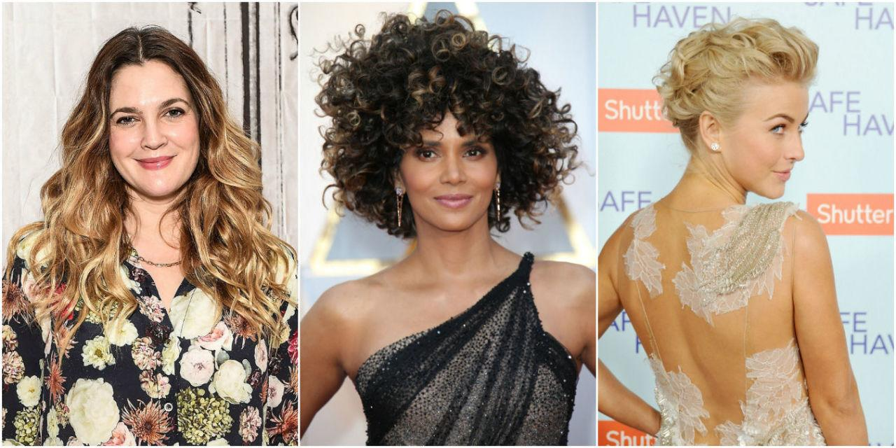 <p>While some celebs go to great lengths to straighten, process, and keratin their bodacious manes, others embrace their ringlets with these stunning hairdos.</p>