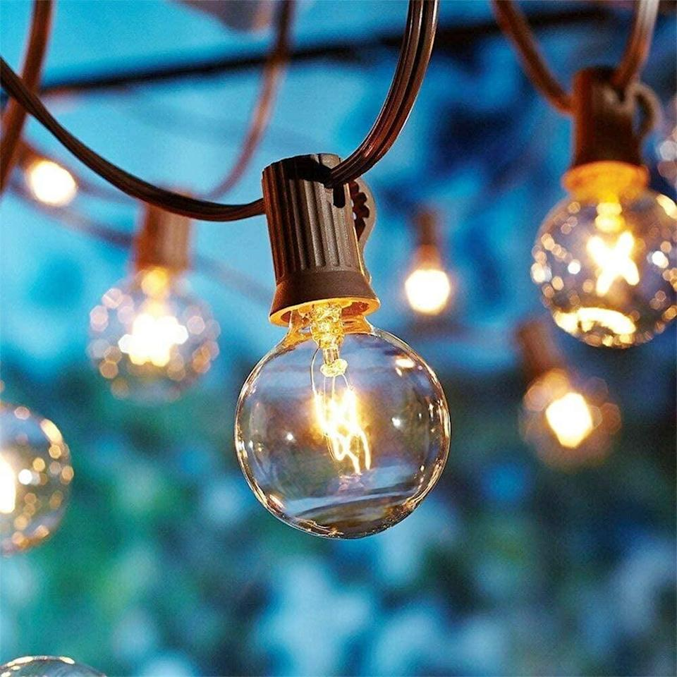 <p>Decorate your backyard with these gorgeous <span>SkrLights 25Ft Outdoor String Lights with 27 Globe Clear Bulbs</span> ($12, originally $17).</p>