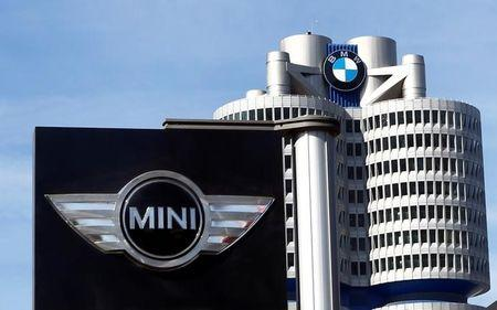 FILE PHOTO: The logo of German luxury car maker BMW-Mini is pictured in Munich