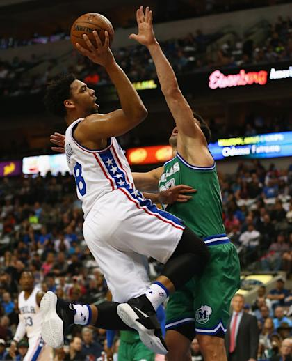 Okafor got plenty of chances to score with Philly this season. (Ronald Martinez/Getty Images)