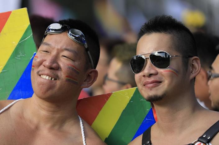 A court decision last year binds the Taiwanese government to legislate for same-sex partnerships by next year (AFP Photo/Daniel Shih)