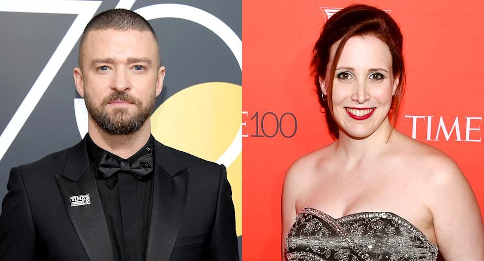 Justin Timberlake probably didn't expect Dylan Farrow's reaction to this tweet. (Photo: Getty Images)