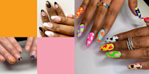 """<p>Look, 2020 was a long-ass year in many ways. Even nail-wise. There were precious few moments to grab a mani, between lockdowns and nail salons playing catch-up with their missed appointments. </p><p>And while 2021 held so much promise, it's easy to feel a bit defeated now we find ourselves in yet! another! lockdown!</p><p>But don't despair. There's hope yet. Firstly, I'm proposing that we consider this next lockdown the perfect opportunity to plan ahead for that joyous first trip back to the salon. </p><p>Because, I don't know about you, but I'm all too familiar with mani-station stage fright. That moment of choice-paralysis when your nail technician asks """"What are we going for today?"""" and all you can muster in response is """"Errr, burgundy?"""" when what you really wanted was that monochrome inverted French mani you saw on <a href=""""https://www.instagram.com/p/CIwcsens5fv/"""" rel=""""nofollow noopener"""" target=""""_blank"""" data-ylk=""""slk:Bettina Goldstein"""" class=""""link rapid-noclick-resp"""">Bettina Goldstein</a>? THE ABSOLUTE WORST.<br><br>So grab a tea, have a scroll, and screenshot the best looks we found on some of Instagram's freshest manicurists, because one thing's for sure - 2021 is not the year for wasting your nail appointments.<br><br>Also, loads of these looks are super accessible, so you might just find something to inspire your next DIY paint job too...<br><br></p>"""