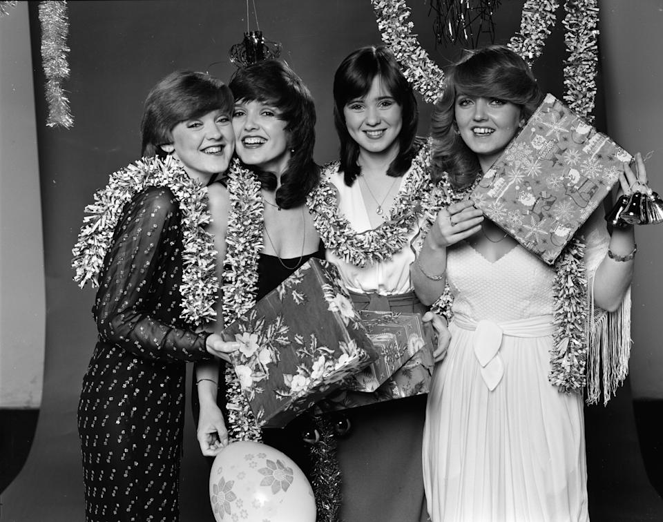 The Nolan Sisters left to right : Bernie Nolan, Maureen Nolan, Coleen Nolan, Linda Nolan Picture taken 9th December 1980. (Photo by Peter Cook/Mirrorpix/Getty Images)