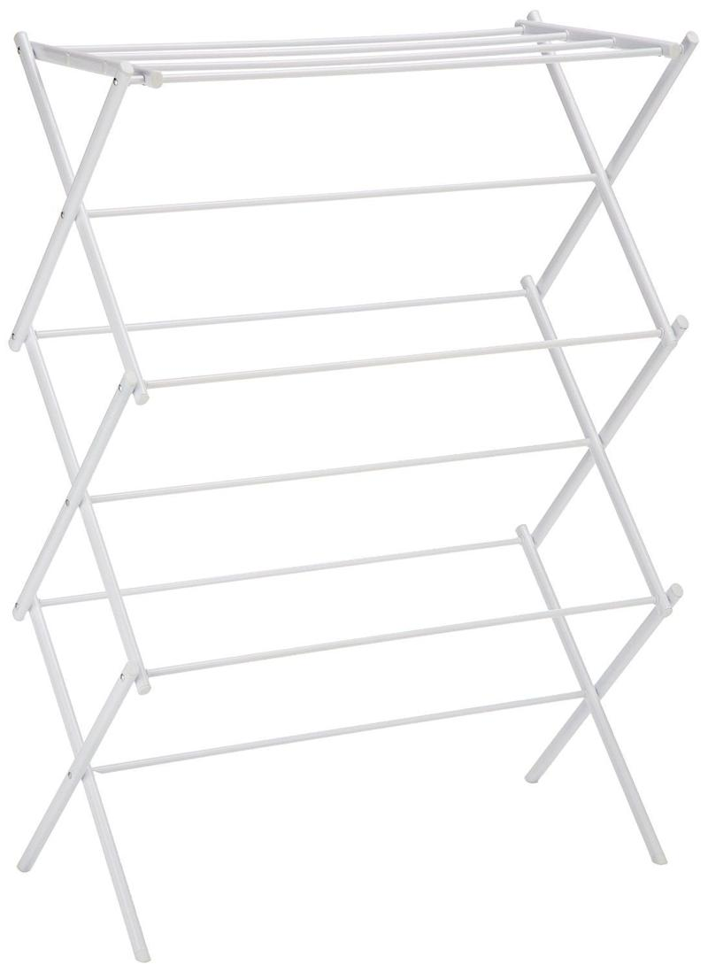 "Get it <a href=""https://www.amazon.com/AmazonBasics-Foldable-Drying-Rack-White/dp/B00H7P1GPO/ref=sr_1_4?s=storageorganization&ie=UTF8&qid=1520450945&sr=1-4&keywords=clothes+drying+rack"" target=""_blank"">here</a> for $20."
