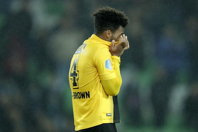 Erik Palmer-Brown made his first start of 2019, but the defender had a match to forget in NAC Breda's 5-0 loss at Ajax. (Getty)