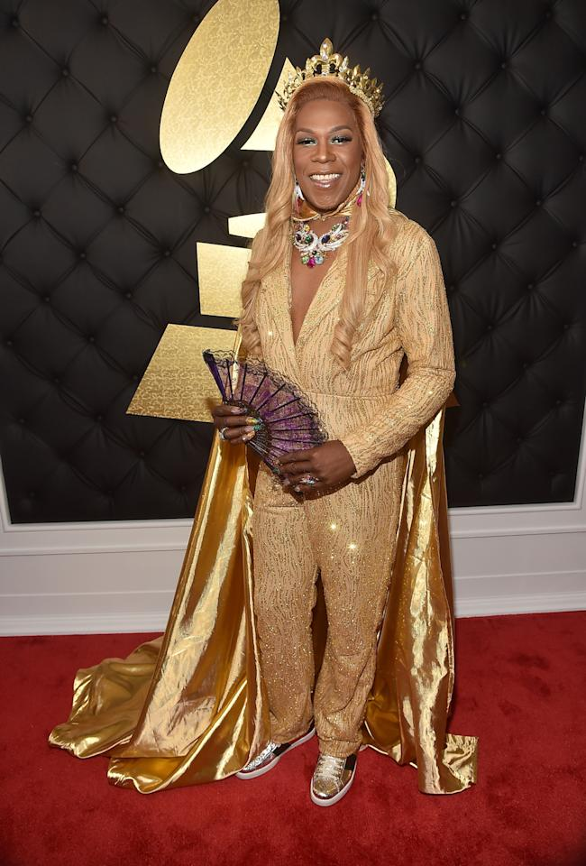 <p>Big Freedia's look had a lot going on, but it was the fan that was the coolest. (Photo: Getty Images) </p>
