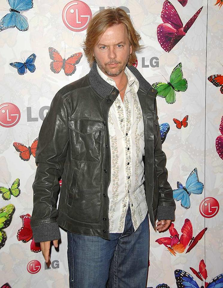 "David Spade kept it casual in a jacket, button-down, and jeans. John Shearer/<a href=""http://www.wireimage.com"" target=""new"">WireImage.com</a> - April 28, 2009"