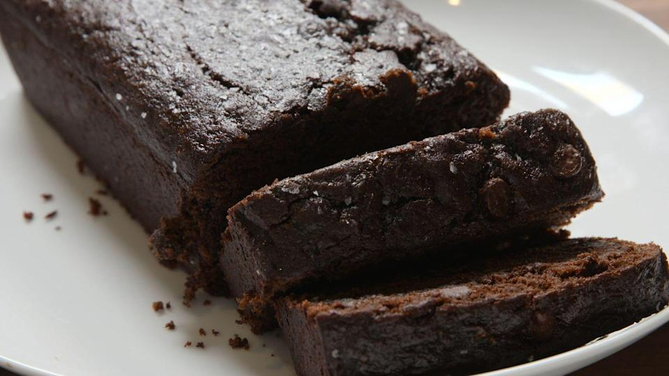 """<p>With all that chocolate, you'll forget there's veggies in there.</p><p>Get the recipe from <a href=""""https://www.delish.com/cooking/recipe-ideas/recipes/a48378/death-by-chocolate-zucchini-bread-recipe/"""" rel=""""nofollow noopener"""" target=""""_blank"""" data-ylk=""""slk:Delish"""" class=""""link rapid-noclick-resp"""">Delish</a>.<br></p>"""
