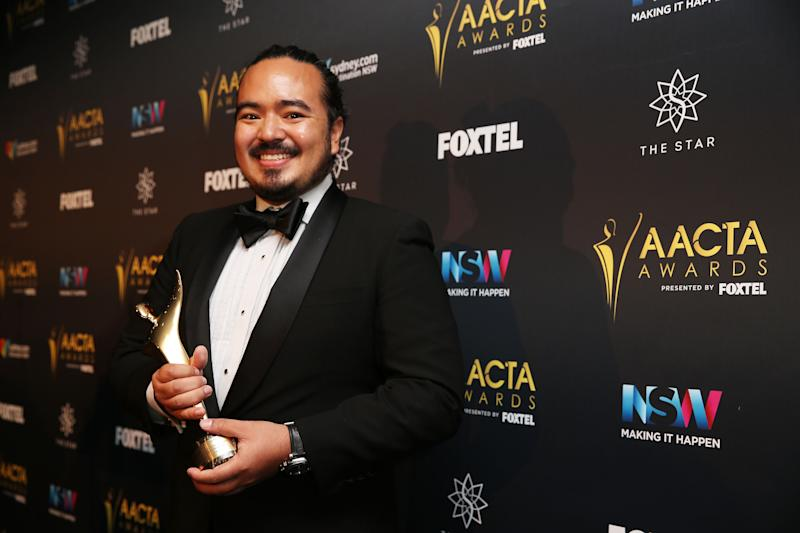 Chef Adam Liaw poses in the media room after winning the AACTA Award for Best Lifestyle Television Program for Destination Flavour at the 6th AACTA Awards Presented by Foxtel at The Star on December 7, 2016 in Sydney, Australia.