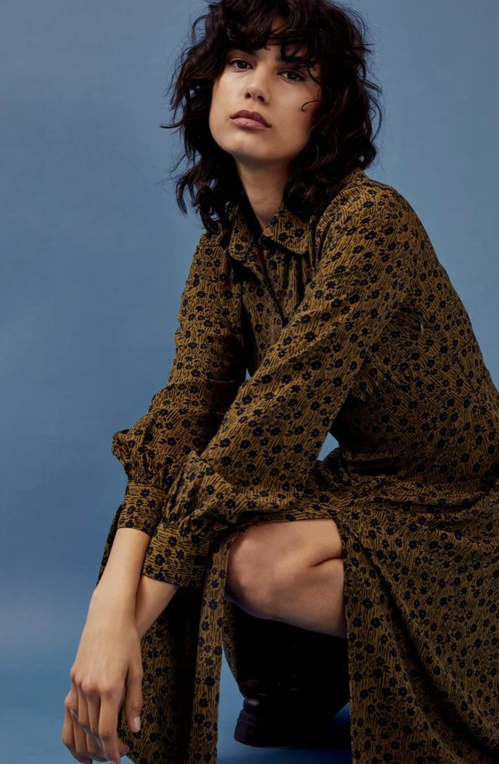 <p>This <span>Topshop Floral Slit Front Long Sleeve Shirtdress</span> ($38, originally $95) packs so much drama and casual elegance.</p>
