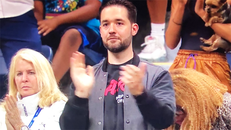 Alexis Ohanian, pictured here during Serena Williams' US Open outfit