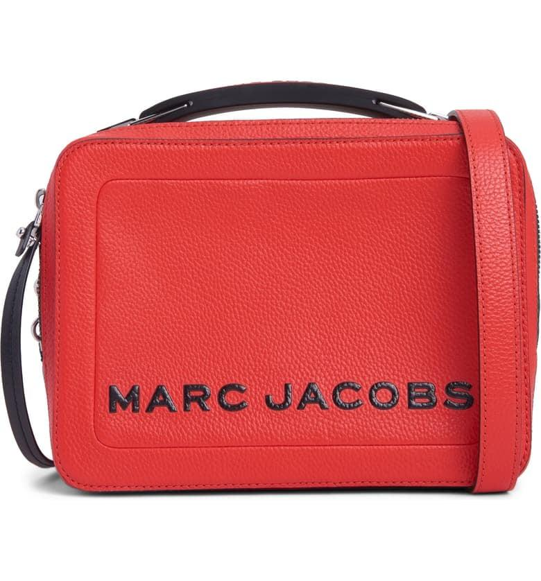 """<p>We can't believe this popular <a href=""""https://www.popsugar.com/buy/MARC-JACOBS-Box-23-Leather-Handbag-484288?p_name=MARC%20JACOBS%20The%20Box%2023%20Leather%20Handbag&retailer=shop.nordstrom.com&pid=484288&price=237&evar1=fab%3Aus&evar9=45974897&evar98=https%3A%2F%2Fwww.popsugar.com%2Fphoto-gallery%2F45974897%2Fimage%2F46543182%2FMARC-JACOBS-Box-23-Leather-Handbag&list1=nordstrom%2Cfall%20fashion%2Csale%2Csale%20shopping&prop13=api&pdata=1"""" rel=""""nofollow"""" data-shoppable-link=""""1"""" target=""""_blank"""" class=""""ga-track"""" data-ga-category=""""Related"""" data-ga-label=""""https://shop.nordstrom.com/s/marc-jacobs-the-box-23-leather-handbag/5425229?origin=category-personalizedsort&amp;breadcrumb=Home%2FSale%2FWomen%2FNew%20Markdowns&amp;color=windy%20blue"""" data-ga-action=""""In-Line Links"""">MARC JACOBS The Box 23 Leather Handbag</a> ($237, originally $395) is on sale.</p>"""