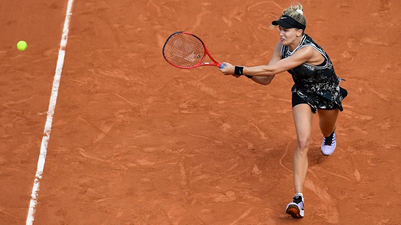 Eugenie Bouchard, pictured here in action at the French Open in 2019.