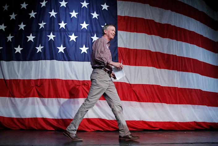 Former Colorado Gov. John Hickenlooper, a moderate, cruised to victory earlier this week in the state's Democratic Senate primary. Progressives for the most part passed on targeting him with a strong challenge Tuesday, potentially missing a chance to increase their ranks in Congress. (Photo: ASSOCIATED PRESS)