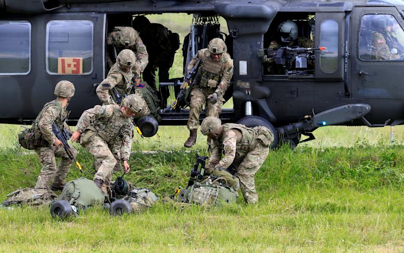 The threat has prompted Nato to deploy some 4,500 troops to Lithuania, Poland, Latvia and Estonia