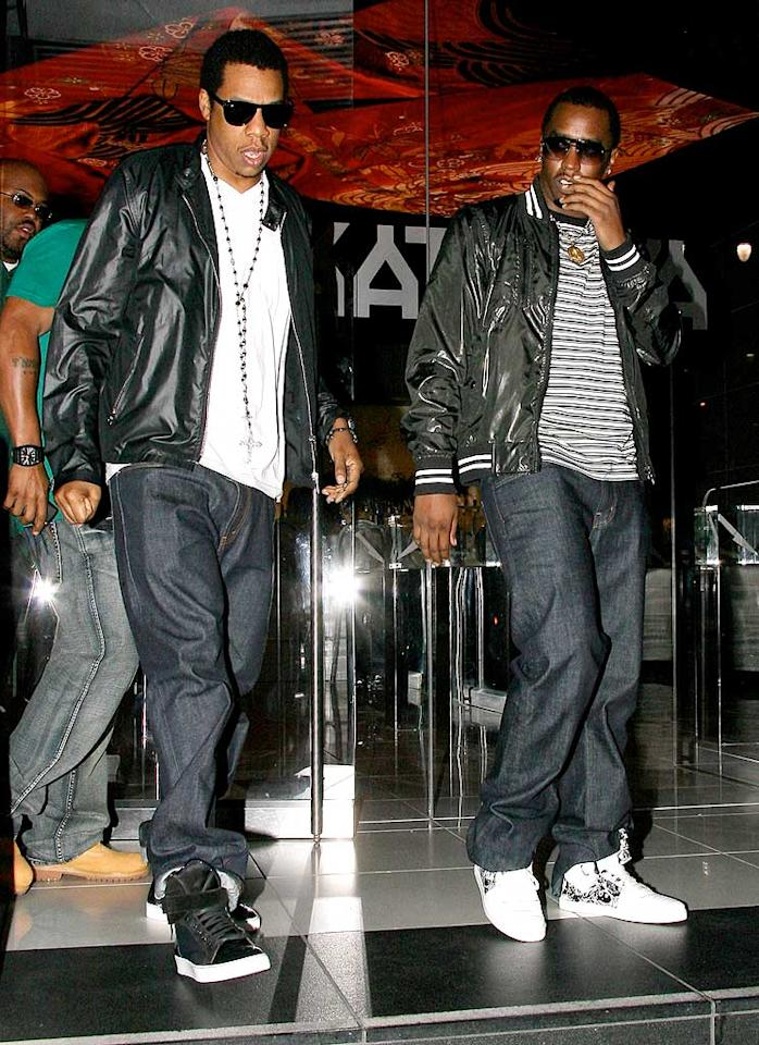 """After the game, the guys hit up Katsuya, Jay-Z's favorite sushi spot! Arturo<a href=""""http://www.x17online.com"""" target=""""new"""">X17 Online</a> - January 31, 2009"""