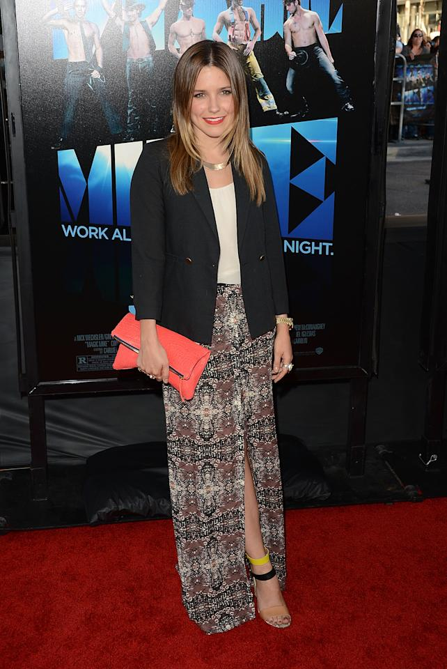 LOS ANGELES, CA - JUNE 24:  Actress Sophia Bush arrives at the closing night gala premiere of 'Magic Mike' at the 2012 Los Angeles Film Festiva held at Regal Cinemas L.A. Live on June 24, 2012 in Los Angeles, California.  (Photo by Jason Merritt/Getty Images)