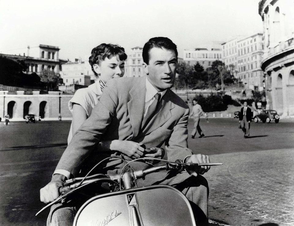 """<a href=""""http://movies.yahoo.com/movie/roman-holiday/"""" data-ylk=""""slk:ROMAN HOLIDAY"""" class=""""link rapid-noclick-resp"""">ROMAN HOLIDAY</a> (1953) <br>Directed by: <span>William Wyler</span> <br>Starring: <span>Gregory Peck</span>, <span>Audrey Hepburn</span> and <span>Eddie Albert</span>"""
