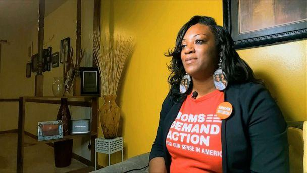 PHOTO: DeAndra Dycus, of Indianapolis, has become an advocate against gun violence after her young son was shot and seriously injured.  (The Associated Press)