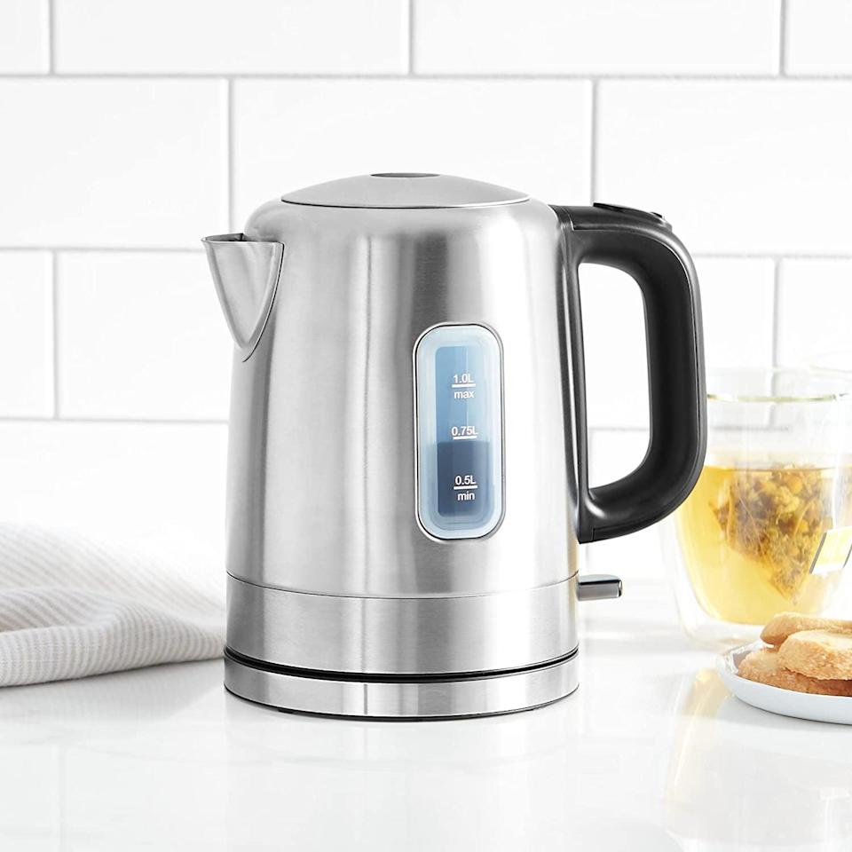 <p><span>AmazonBasics Stainless-Steel Portable Fast, Electric Hot-Water Kettle</span> ($18, originally $22)</p>