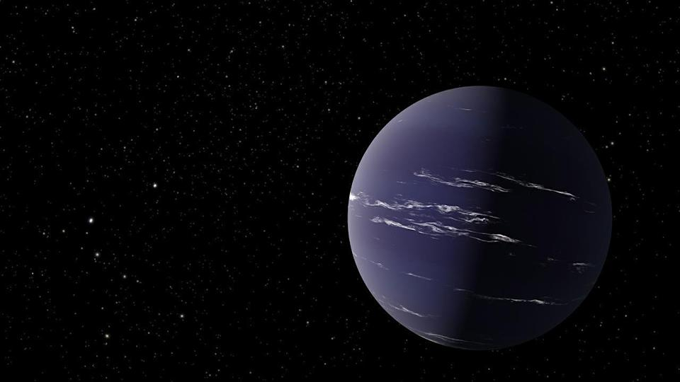 An artist's rendering of TOI-1231 b, a Neptune-like planet about 90 light years away from Earth. / Credit: NASA/JPL-Caltech