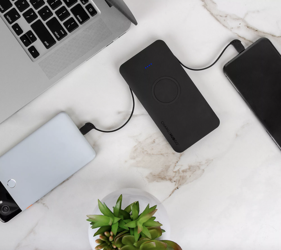 ChargeHubGo+ Power Bank With Wireless Charging Pad (Photo: QVC)