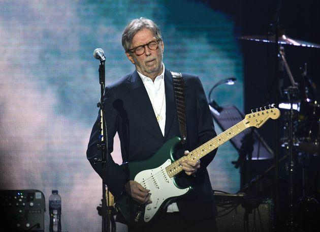 Eric Clapton performs at Music for the Marsden 2020 at The O2 Arena in London. The famed guitarist said in July: