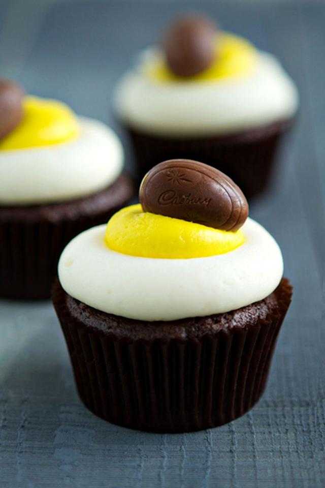 """<p>One thing is for sure: Easter just wouldn't feel like Easter without a Cadbury Creme Egg to top off your celebration.</p><p>Get the recipe at <a href=""""http://www.mybakingaddiction.com/cadbury-creme-egg-cupcakes/"""" target=""""_blank"""">My Baking Addiction</a>.</p>"""