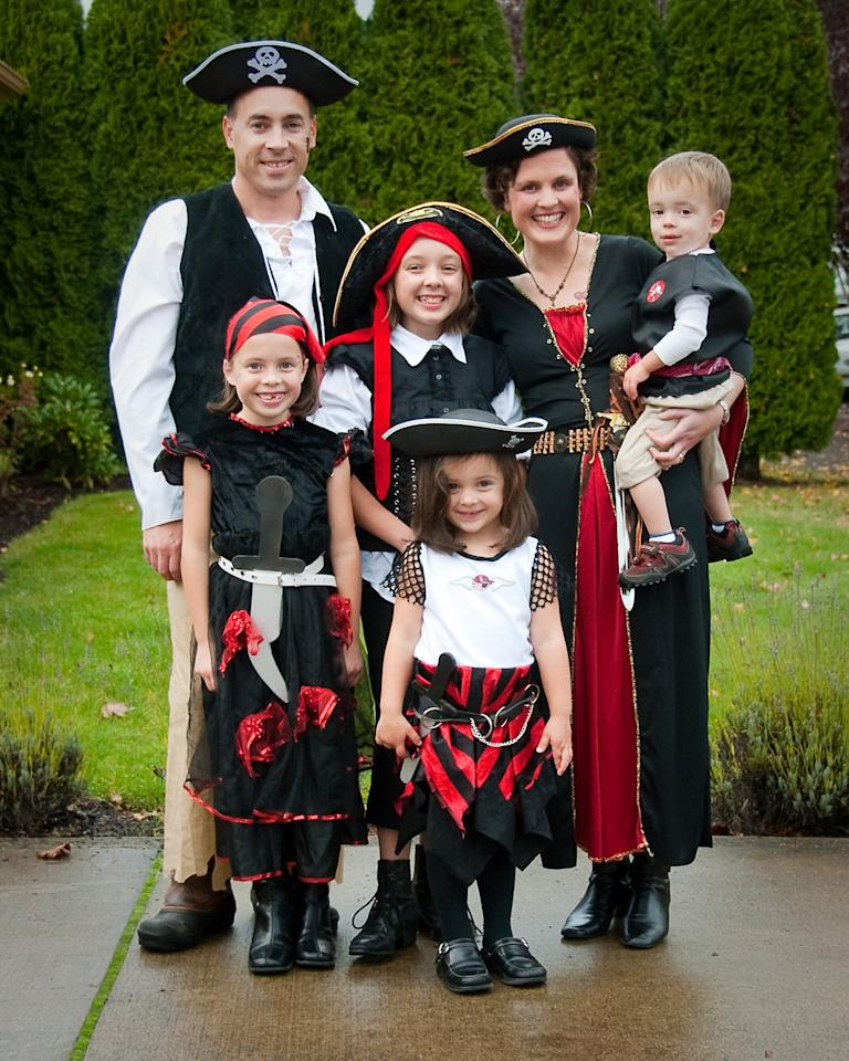 <p>A family of pirates is intimidating. </p>