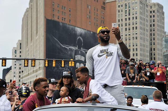 LeBron James is familiar with Cleveland. (Getty Images)