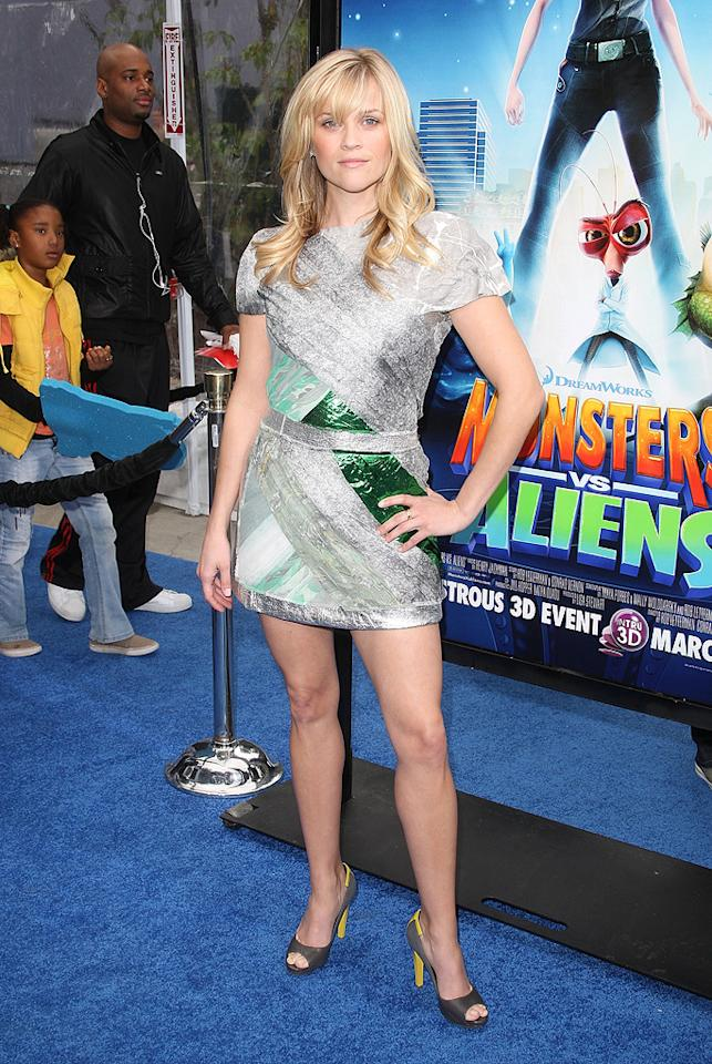 "<a href=""http://movies.yahoo.com/movie/contributor/1800018812"">Reese Witherspoon</a> at the Los Angeles premiere of <a href=""http://movies.yahoo.com/movie/1809918074/info"">Monsters vs. Aliens</a> - 03/22/2009"