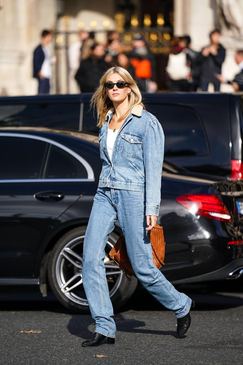 "<p>As much as we love jeans, they can be quite damaging to the environment. Excessive water usage and toxic dyes and chemicals are just a few of denim's negative side affects. Responsible Italian denim company <a href=""https://wwd.com/business-news/business-features/candiani-biodegradable-stretch-denim-1203368221/#:~:text=Italian%20family%2Downed%20sustainable%20denim,with%20Dutch%20denim%2Dmaker%20Denham."" class=""link rapid-noclick-resp"" rel=""nofollow noopener"" target=""_blank"" data-ylk=""slk:Candiani developed biodegradable denim in 2019"">Candiani developed biodegradable denim in 2019</a>. Made completely of plant-based materials, the denim gives back to the environment by breaking down post-use and releasing nutrients into the soul to help with the growth of plants and trees. Biodegradable denim is great because it shrinks your waste footprint. Oh, and it looks good too.</p>"