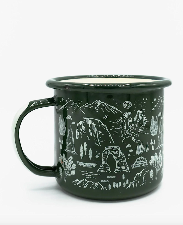 """<h2><a href=""""https://www.madewell.com/parks-project-national-parks-iconic-enamel-mug-M7783.html?dwvar_M7783_color=GR0005&cgid=labelswelove#start=172"""" rel=""""nofollow noopener"""" target=""""_blank"""" data-ylk=""""slk:Parks Project National Parks Iconic Enamel Mug"""" class=""""link rapid-noclick-resp"""">Parks Project National Parks Iconic Enamel Mug</a></h2><br>If your mother-in-law is passionate about our nation's parks, she'll definitely appreciate a gift that supports the future and conservation of our public lands. <br><br><strong>Madewell Marketplace</strong> Parks Project National Parks Iconic Enamel Mug, $, available at <a href=""""https://go.skimresources.com/?id=30283X879131&url=https%3A%2F%2Fwww.madewell.com%2Fparks-project-national-parks-iconic-enamel-mug-M7783.html%3Fdwvar_M7783_color%3DGR0005"""" rel=""""nofollow noopener"""" target=""""_blank"""" data-ylk=""""slk:Madewell"""" class=""""link rapid-noclick-resp"""">Madewell</a>"""