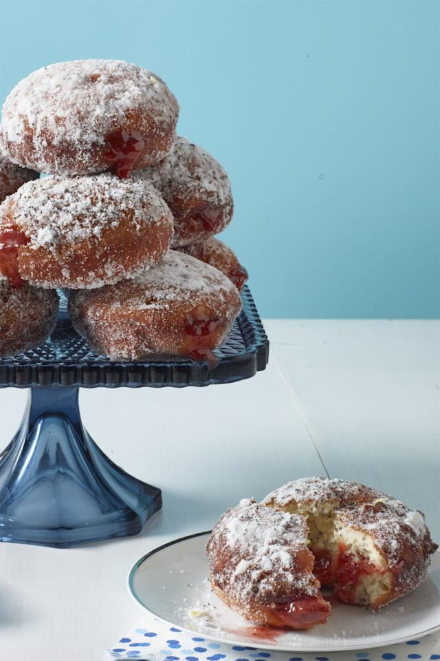 "<p><a rel=""nofollow"" href=""http://www.womansday.com/food-recipes/food-drinks/recipes/a60680/lemon-poppy-seed-jelly-doughnuts-recipe/""></a><a rel=""nofollow"" href=""http://www.womansday.com/food-recipes/food-drinks/recipes/a60680/lemon-poppy-seed-jelly-doughnuts-recipe/""></a><strong>Then: </strong>The Germans are said to be the ones who gifted the world these sugary-sweet doughnuts. While the filling flavors might have have differed, Berliners (the German term for jelly-filled doughnuts) came onto the scene in the early 1800's. </p><p><strong>Today: </strong>While you can still pick up a dozen of these sweet treats at your local doughnut chain, these lemon poppy seed doughnuts are even better homemade. Add the jam of your choice for a truly customized breakfast treat (or snack). </p><p><strong><a rel=""nofollow"" href=""http://www.womansday.com/food-recipes/food-drinks/recipes/a60680/lemon-poppy-seed-jelly-doughnuts-recipe/"">Get the recipe.</a></strong></p>"