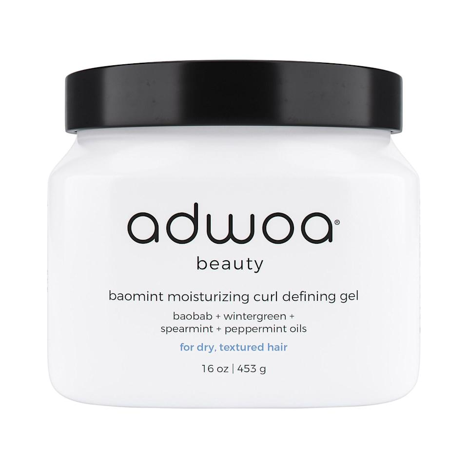 """<p><strong>adwoa beauty</strong></p><p>sephora.com</p><p><strong>$32.00</strong></p><p><a href=""""https://go.redirectingat.com?id=74968X1596630&url=https%3A%2F%2Fwww.sephora.com%2Fproduct%2Fadwoa-beauty-baomint-moisturizing-curl-defining-gel-P457235&sref=https%3A%2F%2Fwww.goodhousekeeping.com%2Fbeauty-products%2Fg33809765%2Fbest-gel-for-curly-hair%2F"""" rel=""""nofollow noopener"""" target=""""_blank"""" data-ylk=""""slk:Shop Now"""" class=""""link rapid-noclick-resp"""">Shop Now</a></p><p>This cream-based gel helps <strong>define and hold curls in place while keeping hair moisturized and soft. </strong>""""This gel is my holy grail,"""" one reviewer says. """"Use it on soaking wet hair and you can't go wrong. It practically turns into water in my hair and my hair just drinks it up."""" <br></p>"""