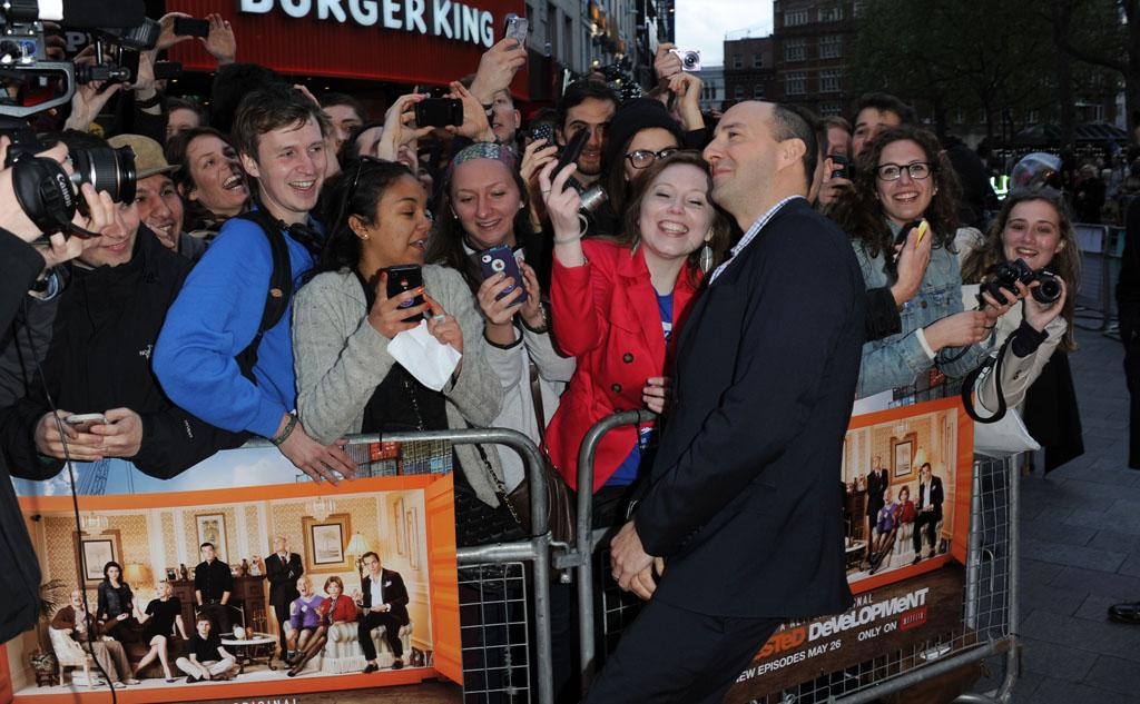 "Tony Hale attends the red carpet premiere for the launch of Netflix Original Series, ""Arrested Development,"" Season 4 on May 09, 2013 at Vue Leicester Square in London, England."